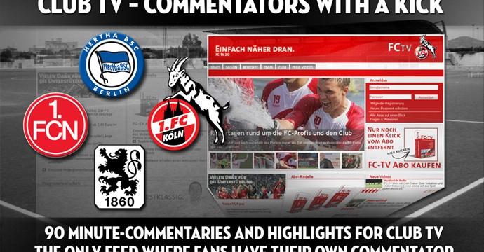 90 Minuten Live Kommentare für Bundesliga-Vereine im Auftrag von Plazamedia