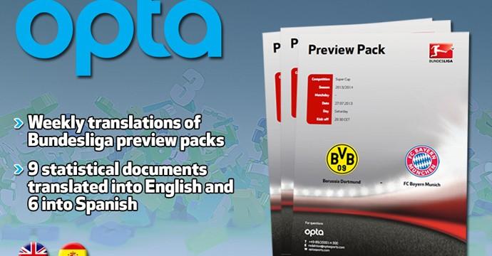 Le cartelle stampa ufficiali della Bundesliga di opta